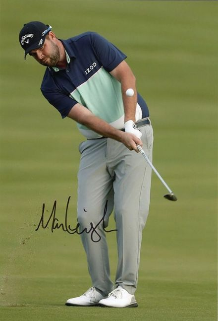 Marc Leishman, Australian golfer, signed 12x8 inch photo.